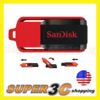 SanDisk 8GB Cruzer Switch USB 2.0 Flash Memory Disk Pen Drive SDCZ52