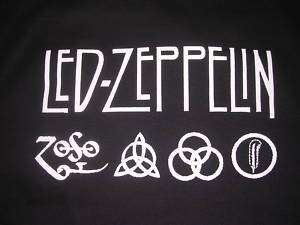 Vintage Led Zeppelin Band Runes Zoso T Shirt