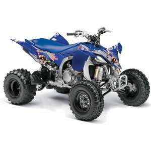 2010 Yamaha YFZ 450 ATV Quad, Graphic Kit   T Bomber Blue Automotive