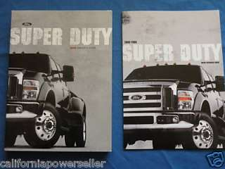 2008 FORD SUPER DUTY F SERIES OWNERS MANUAL DIESEL 6.0