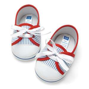 NEW★Baby GAP Blue Strips Baby Boy/Girls Shoes