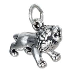 Sterling Silver Lion Charm. Jewelry