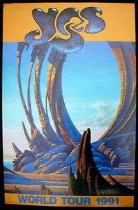 YES Roger Dean Union World Tour Poster 1991 USA Mint  Original