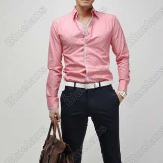 Mens Casual Slim Fit Luxury Stylish Dress Shirts US size XS S M