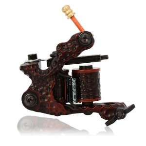 Wrap Coils Iron Liner Tattoo Machine Dark Red