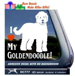 Love My Goldendoodle Window Decal Sticker DC777HEA