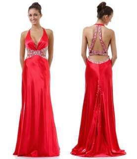 Formal Gown Prom Dress Open Sides Beautiful Deep Back