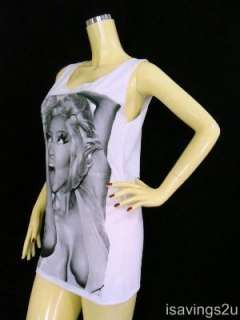 NICKI MINAJ Hip Hop Tank Top, Rap Dance SEXY, SINGLET White, T shirt