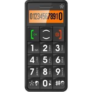 SENIOR CELL PHONE LARGE BUTTON KEYPAD W/SOS BLK CELL. Black
