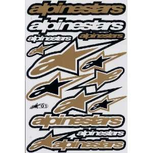 Alpinestar ATV Racing Graphic Sticker Decal 1 Sheet AS14P
