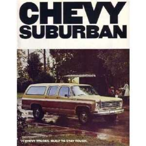 1977 CHEVROLET SUBURBAN Sales Brochure Literature Book Automotive