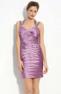 NWT Adrianna Papell Pleated Shimmer Satin Sheath Cocktail Dress 8 $198