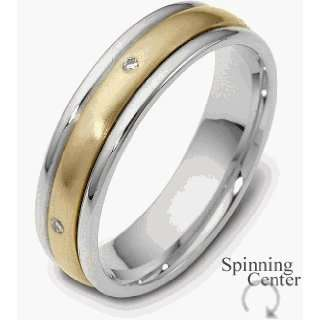 Two Tone Gold Diamond SPINNING Band, 0.025 TCW   9