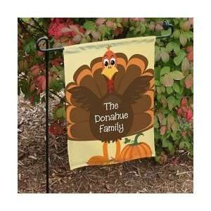 Personalized Turkey Thanksgiving Welcome Garden Yard Flag