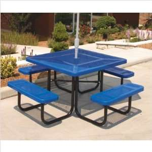 Ultra Play P 46 Square Table with Perforated Pattern Frame Color/Coat