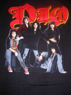 VINTAGE DIO ROCK BAND SHIRT LOCK UP THE WOLVES NV WORN