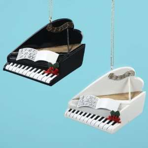Club Pack of 12 Piano Christmas Ornaments for Personalization