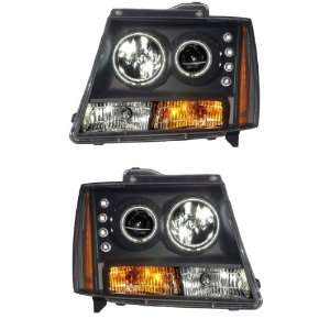 CHEVY TAHOE/SUBURBAN/AVALANCHE 07 UP PROJECTOR HEADLIGHT BLACK CLEAR
