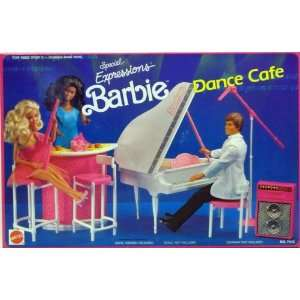 BARBIE and THE BEAT DANCE CAFE Playset w Baby GRAND PIANO