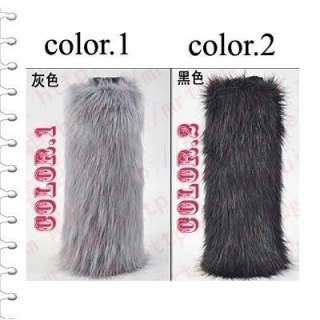 40CM Fashion faux fur Lady Leg Warmer Boot Sleeve Cover multi colors