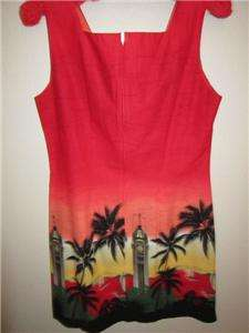 HAWAIIN PRINT SHEATH DRESS