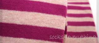 New BASS Womens Knee High Boot Color Stripes Socks Pink