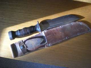 WW2 fighting knife trench knife cattaraugus 225 Q WWII us marine corps