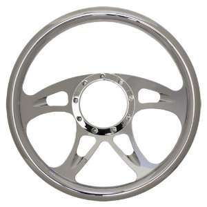 14 Chrome Billet Aluminum Steering Wheel   9 Hole