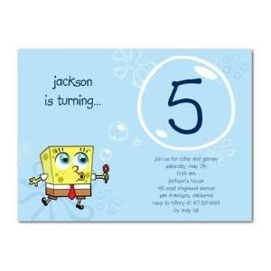 Invitations   Spongebob Squarepants Blowing Bubbles By Nickelodeon