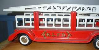 buddy l 1960s ford type hook and ladder truck old toy