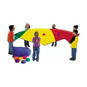Outdoor Toys Games Parachute & Beanbags in Tote