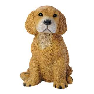 Golden Retriever Puppy Dog Statue Design Toscano