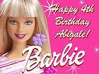 BARBIE Girl Edible CAKE Image Icing Topper Photo Frosting Sheet