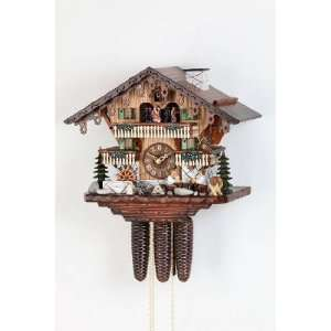 8 Day Black Forest Cuckoo Clock with dancing couples and