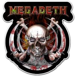 Megadeth Heavy Metal Band Car Bumper Sticker Decal 4.5x4