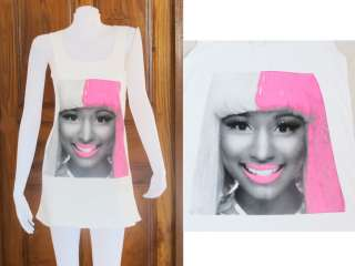 Minaj Super Bass Dance Party Art WOMEN T SHIRT DRESS Tank TOP Size S M