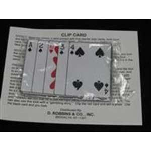 Clip Card  BB Poker  Close Up / Street Card Magic