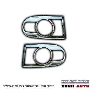 2007 2012 Toyota FJ Cruiser Chrome Tail Light Bezels Automotive