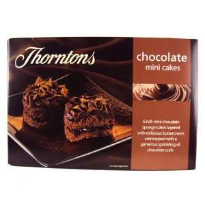 Thorntons Mini Chocolate Cakes 6 Pack Grocery & Gourmet Food