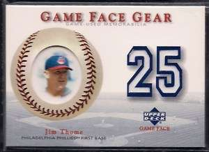 JIM THOME PHILADELPHIA PHILLIES 2003 GAME FACE GEAR GAME WORN #25