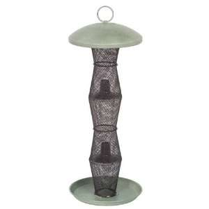 Green & Black Finch Tube Bird Seed Feeder