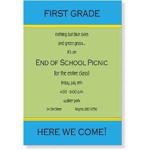 com Childrens Birthday Party Invitations   Blue & Green Venue Party