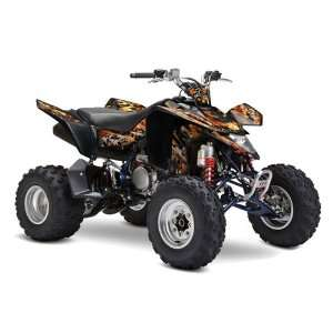 Racing Suzuki LTZ 400 2009 2011 ATV Quad Graphic Kit  Firestorm Black