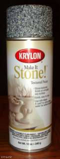 KRYLON MAKE IT STONE TEXTURED SPRAY PAINT BLACK GRANITE 724504182016