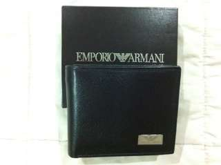 Emporio Armani Mens Wallet Black Leather