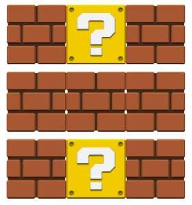 THREE) X BLOCKS   SUPER MARIO Bros Removable WALL STICKER Decal