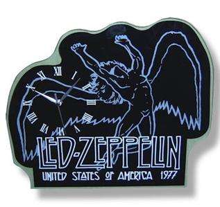 LED ZEPPELIN Swan Song 1977 Die Cut GLASS WALL CLOCK
