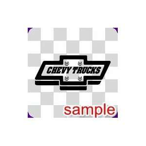 CHEVY TRUCKS WHITE VINYL DECAL STICKER