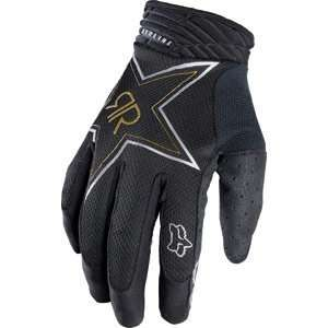 Fox Racing Airline Gloves   Rockstar Black Automotive