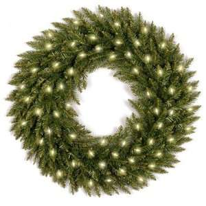 24 Dunhill Fir Wreath with 50 Clear Lights